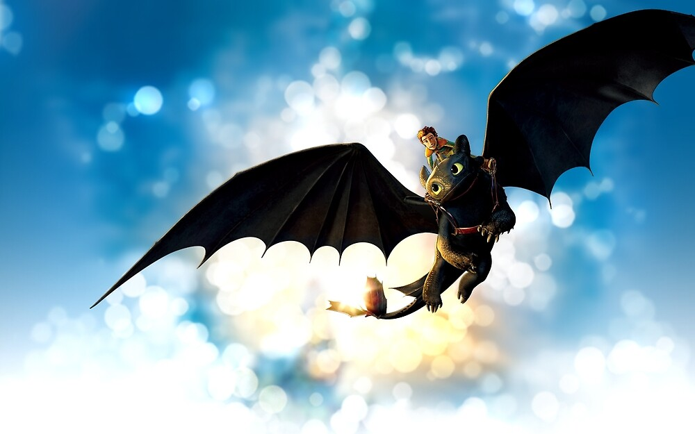 Toothless and Hiccup by indycosgrove