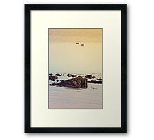 Like a rock in the water - processed Framed Print