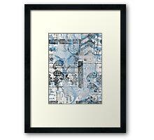 BRUSH STROKE Framed Print