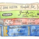 Jane Austen Books by emilynortonart
