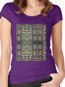 Pastel Masonry Pattern Women's Fitted Scoop T-Shirt