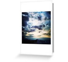 March Evening Greeting Card