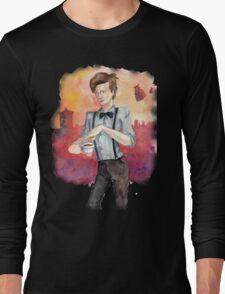 Tea, Jammy Dodgers & Daleks Long Sleeve T-Shirt