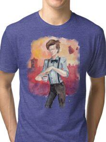 Tea, Jammy Dodgers & Daleks Tri-blend T-Shirt