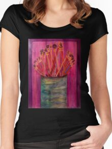 A Little Brush Work Women's Fitted Scoop T-Shirt