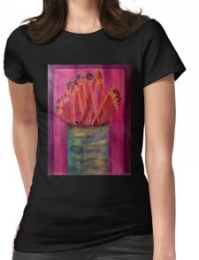 A Little Brush Work Womens Fitted T-Shirt