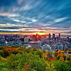 Autumn Sunrise - Montreal by Michael Vesia