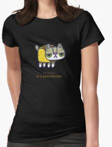 Tacocat is a palindrome Womens Fitted T-Shirt
