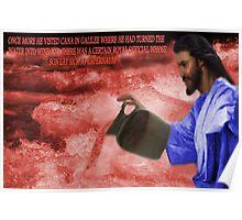 ☀ ツThe Miracle of turning Water Into Wine Biblical☀ ツ Poster