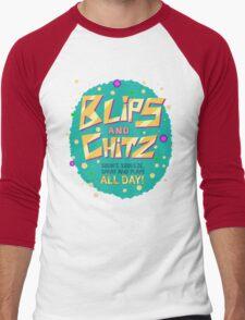 Rick & Morty - Blips and Chitz! Men's Baseball ¾ T-Shirt