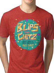 Rick & Morty - Blips and Chitz! Tri-blend T-Shirt