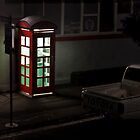 Phone box at Stanley by Cecily  Graham