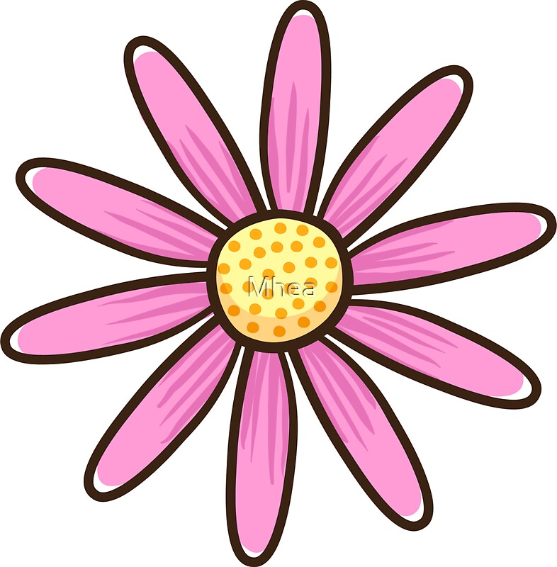 Quot Pink Flower Quot Stickers By Mhea Redbubble