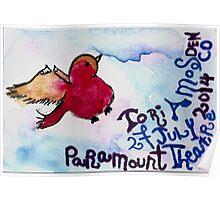 "Tori Amos Concert ""Poster"" Denver 2014 2 Poster"