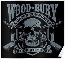 Woodbury Black Poster