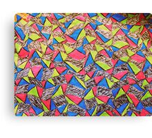 Abstract Neon Pattern - Hand Drawn Print Canvas Print