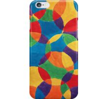 Painted Circles - Painted Abstract Art iPhone Case/Skin
