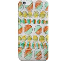 Abstract Psychedelic Circles - Hand drawn Pop Art iPhone Case/Skin