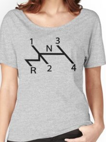 vw shift diagram in black Women's Relaxed Fit T-Shirt