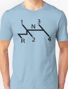 vw shift diagram in black Unisex T-Shirt