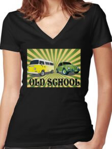 old schools vws Women's Fitted V-Neck T-Shirt
