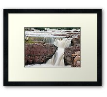 Waterfall Sioux Falls South Dakota Framed Print