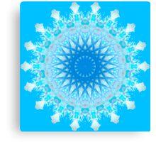 Mystical Snow Cloud Mandala Canvas Print