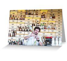the barman Greeting Card