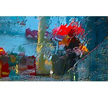 Woman with a Red Umbrella Photographic Print