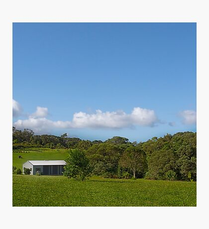 Farm shed on rural property Photographic Print