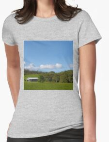 Farm shed on rural property Womens Fitted T-Shirt