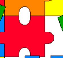 Autism Awareness Sticker - Pieces of the Puzzle Sticker