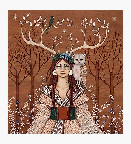 Wood Witch Photographic Print