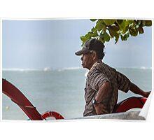 Elderly Man, Sanur Beach, Bali Poster