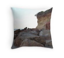 Anglesea cliff Throw Pillow