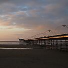 Southport pier view from the ocean shore by kirilart