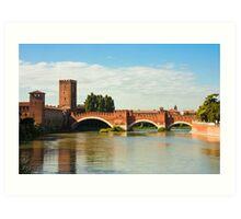 The Castelvecchio Bridge in Verona Art Print