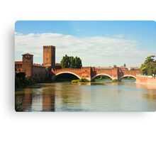The Castelvecchio Bridge in Verona Metal Print