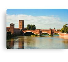 The Castelvecchio Bridge in Verona Canvas Print