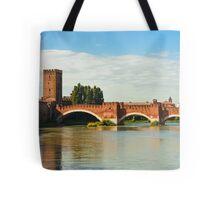 The Castelvecchio Bridge in Verona Tote Bag