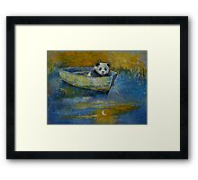 Panda Sailor Framed Print