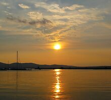 Bulgaria Golden Sunset Sozopol by kirilart