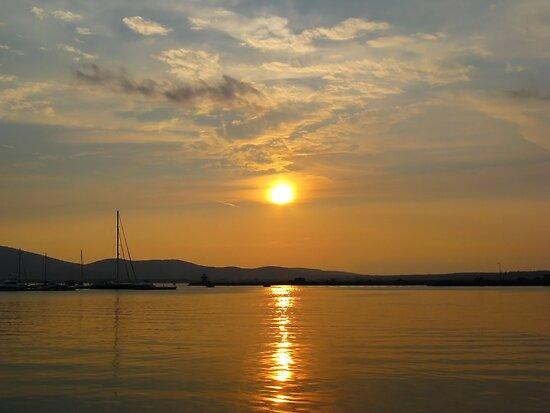 Bulgaria Golden Sunset Sozopol by kirilart
