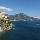 Amalfi Coast view toward Majori by kirilart