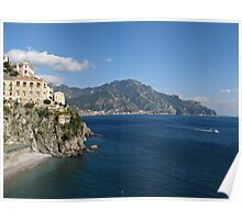 Amalfi Coast view toward Majori Poster