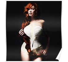 Christina Hendricks as Georgia O'Keeffe Flower Poster