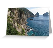 Faraglioni Rock formation on island Capri Greeting Card