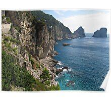 Faraglioni Rock formation on island Capri Poster