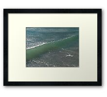 Crystal Clear Wave Movement Framed Print