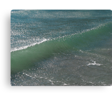 Crystal Clear Wave Movement Canvas Print